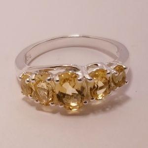 {925} natural Brazilian citrine ring 8